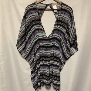 Jessica Simpson scarf blouse with elastic waist